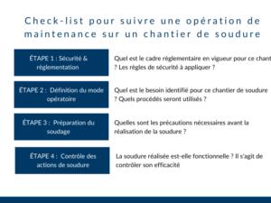 Check-list opération de maintenance