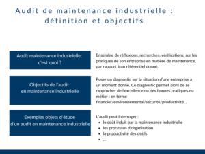 Audit maintenance industrielle c'est quoi